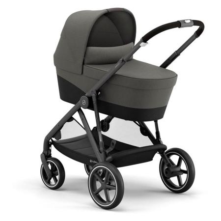 Immagine di Cybex® Passeggino per gemelli Gazelle S BLK (2x passeggino e 2x navicella) Soho Grey