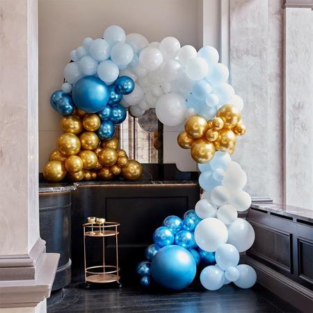 Immagine di Ginger Ray® Arco di  palloncini Luxe Blue & Gold