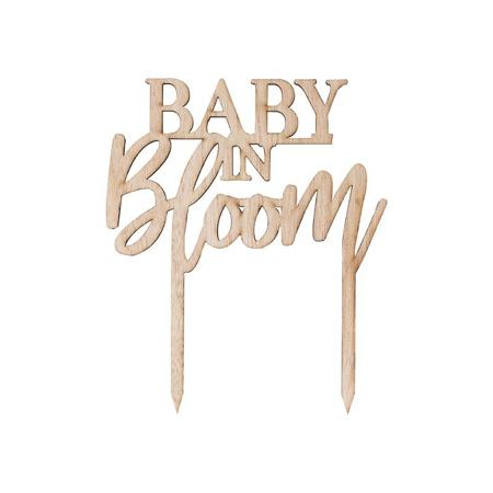 Ginger Ray® Iscrizione decorativa in legno per la torta Baby in Bloom