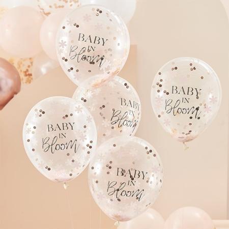 Immagine di Ginger Ray® Palloncini con coriandoli Baby in Bloom 5 kosov