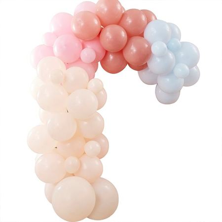 Ginger Ray® Arco di palloncini Muted Pastel Rainbow