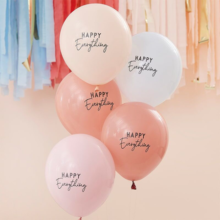 Immagine di Ginger Ray® Palloncini Muted Pastel Happy Everything 5 pezzi