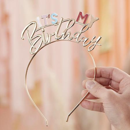 Immagine di Ginger Ray® Fascia per capelli It's My Birthday