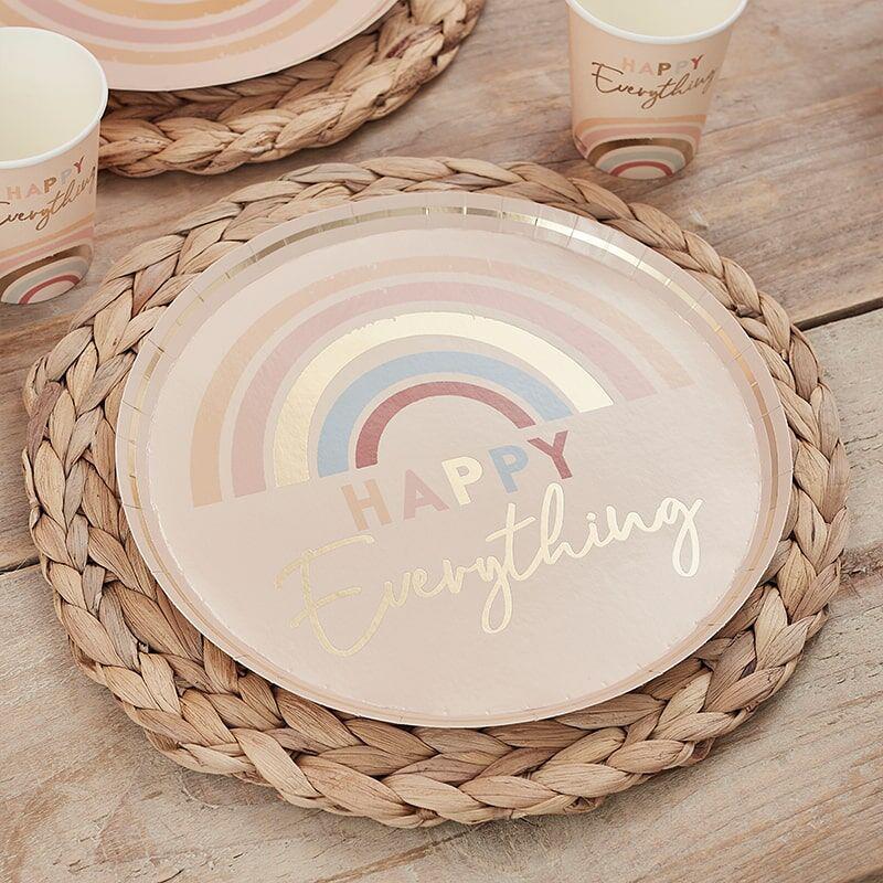 Immagine di Ginger Ray® Piatti di carta Happy Everything 8 pezzi