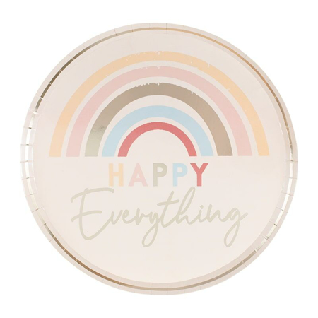 Ginger Ray® Piatti di carta Happy Everything 8 pezzi