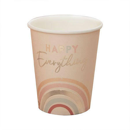 Immagine di Ginger Ray® Bicchieri di carta Happy Everything 8 pezzi
