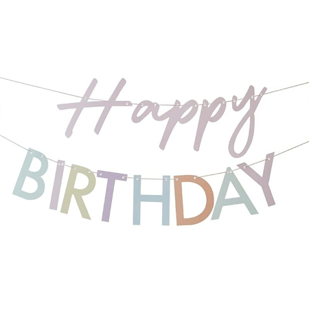 Ginger Ray® Ghrlanda Mix It Up Happy Birthday Pastel