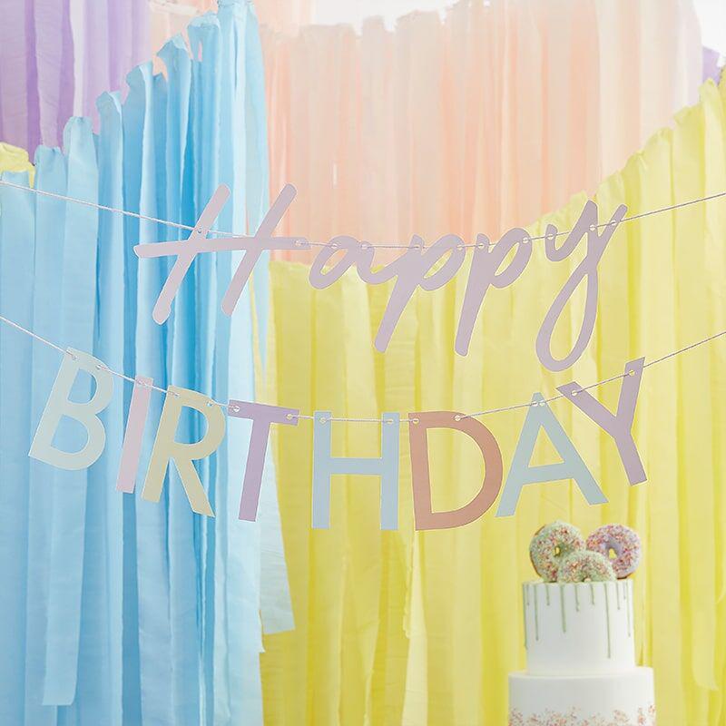 Immagine di Ginger Ray® Ghrlanda Mix It Up Happy Birthday Pastel