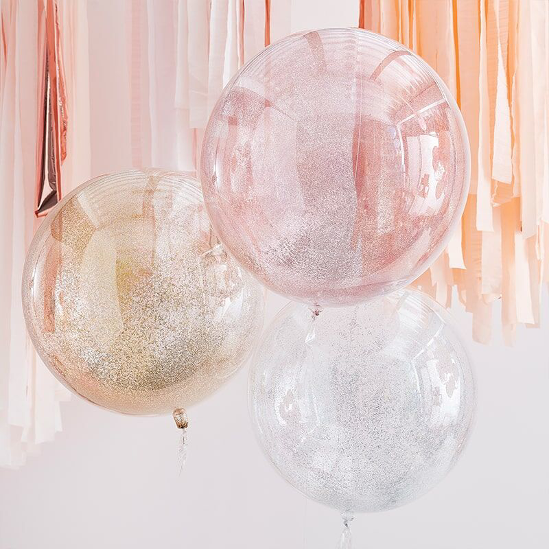 Immagine di Ginger Ray® Palloncini Mix It Up Metallic Glitter Orbs