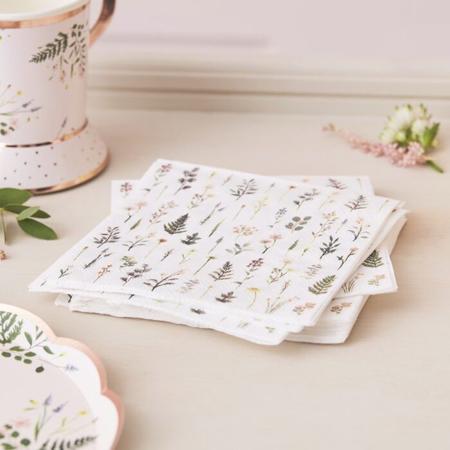 Immagine di Ginger Ray® Tovaglioni Floral 16 pezzi