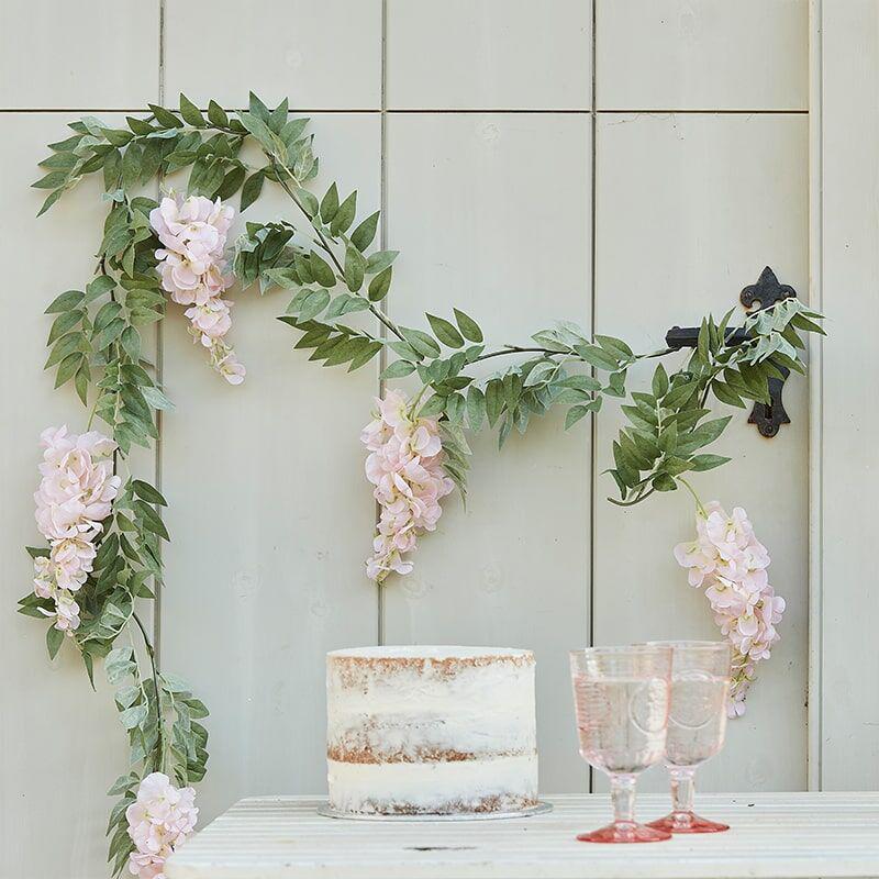 Immagine di Ginger Ray® Gerlanda Blush Pink & Green Floral