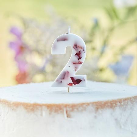 Immagine di Ginger Ray® Candela Floral Numero 2