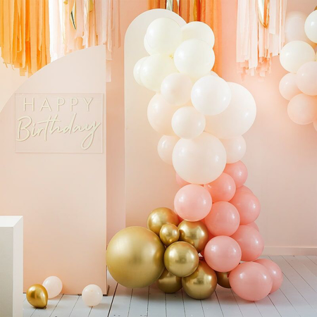 Immagine di Ginger Ray®  Arco di palloncini Mix It Up Peach Gold