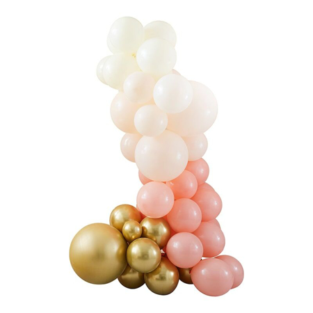 Ginger Ray®  Arco di palloncini Mix It Up Peach Gold