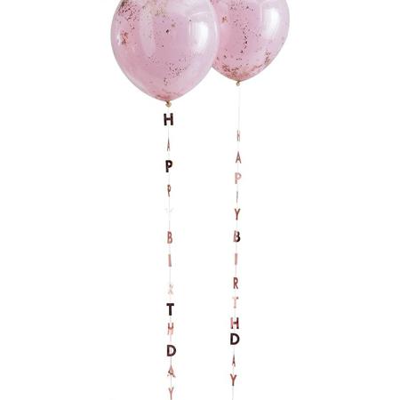 Ginger Ray®  Nastri con la scritta per palloncini Mix It Up Rose Gold