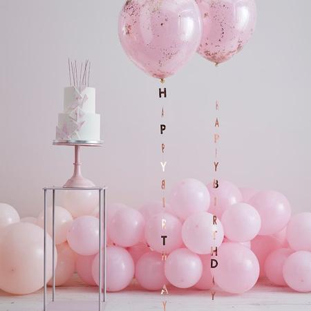 Immagine di Ginger Ray®  Nastri con la scritta per palloncini Mix It Up Rose Gold