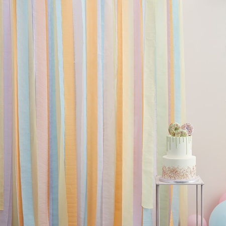 Ginger Ray® Nastri per sfondo  Mix It Up Pastel
