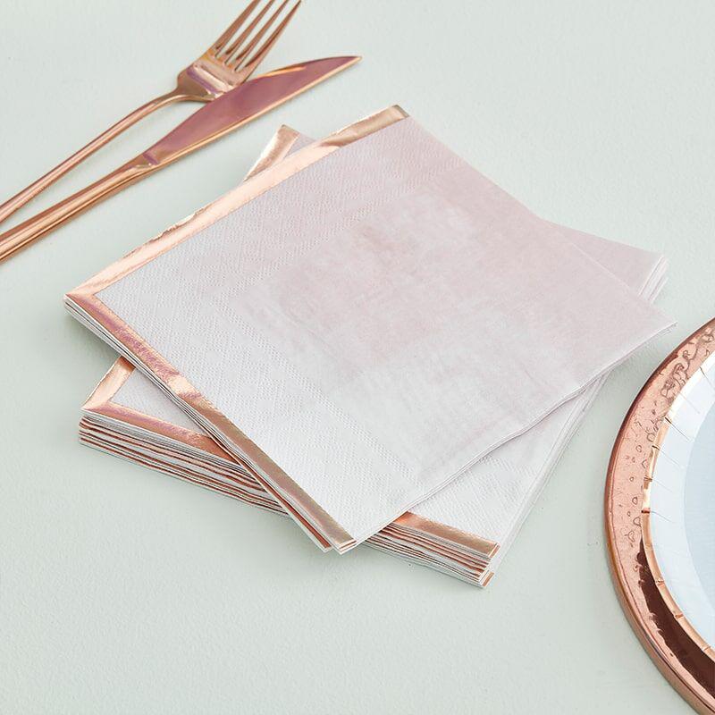 Immagine di Ginger Ray® Tovaglioli di carta Mix It Up  Glaye Rose Gold 16 pezzi