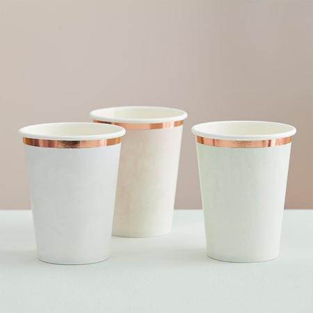 Immagine di Ginger Ray® Bicchieri di carta Pastel Watercolour 8 pezzi