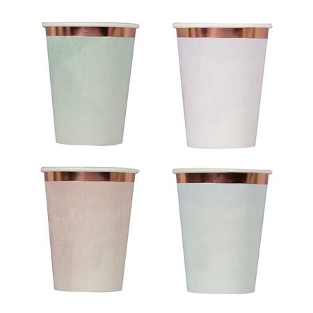 Ginger Ray® Bicchieri di carta Pastel Watercolour 8 pezzi