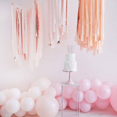 Immagine di Ginger Ray® Strisce di carta da parati Mix It Up Pink Blush Gold