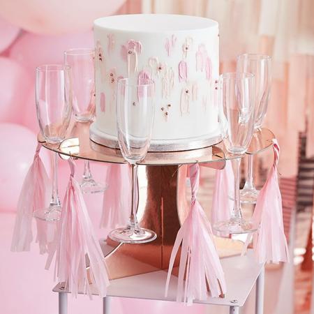 Immagine di Ginger Ray® Supporto per torta e bicchieri Rose Gold
