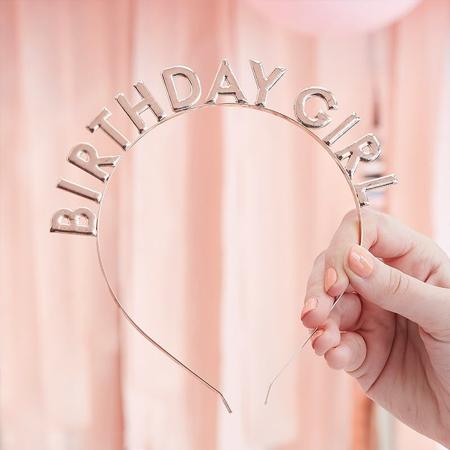 Immagine di Ginger Ray® Fascia per capelli Birthday Girl Rose Gold