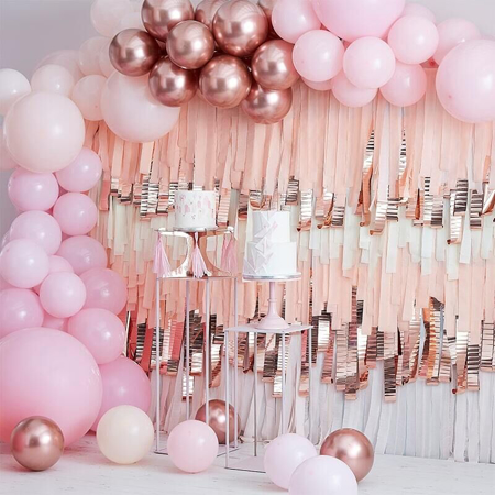 Immagine di Ginger Ray® Arco di palloncini Mix It Up Pink and Rose