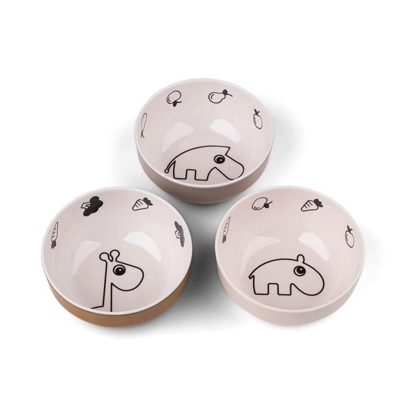 Immagine di Done by Deer® Set di 3 ciotole Yummy Mini Powder