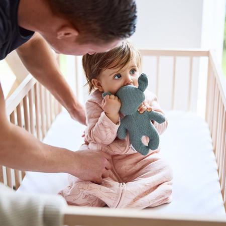 Immagine di Jollein® Sacco nanna per neonati per tutte le stagioni 90cm Whales Pale Pink