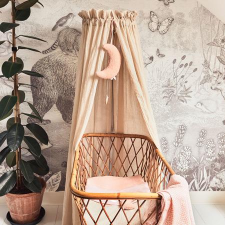 Immagine di Jollein® Baldacchino per il lettino Vintage Pale Pink