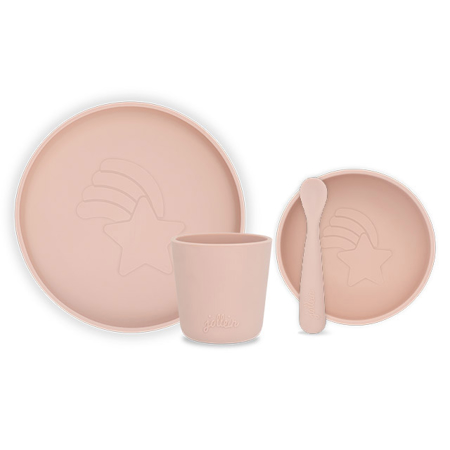 Jollein® Set pappa in silicone Pale Pink