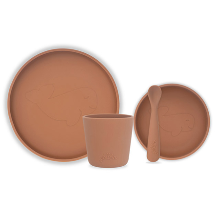 Jollein® Set pappa in silicone Caramel
