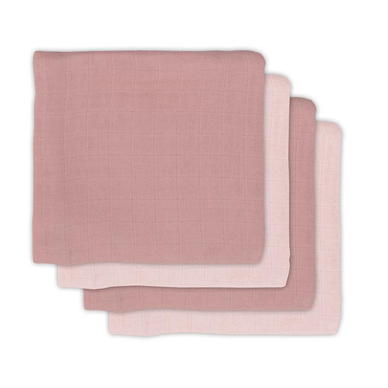 Immagine di Jollein® Set di 4 mussole Pale Pink 70x70