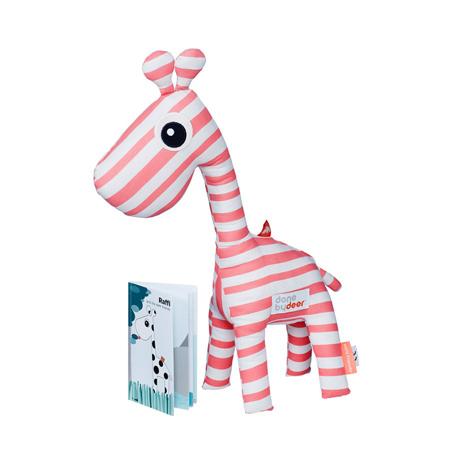Immagine di Done by Deer® Giraffa Raffi con libretto - Rosa chiaro