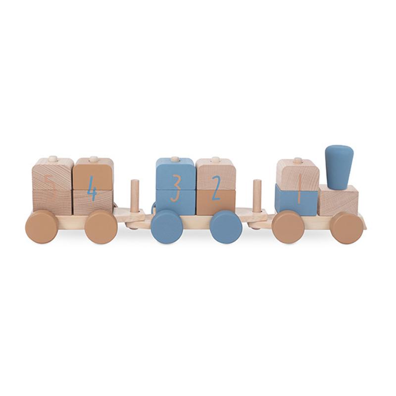 Immagine di Jollein® Treno in legno Blue