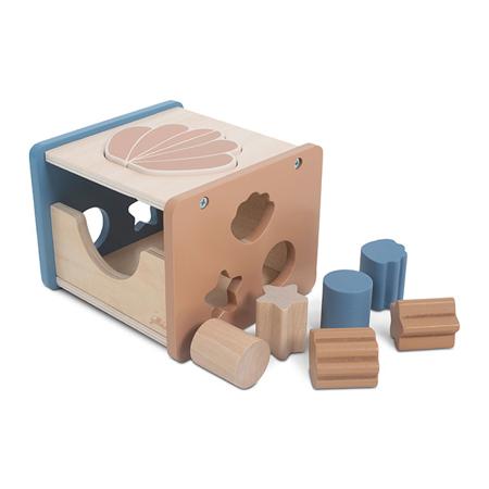 Immagine di Jollein® Gioco di attività in legno Shell Blue