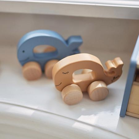 Immagine di Jollein® Giocattolo in legno Car Whale Caramel
