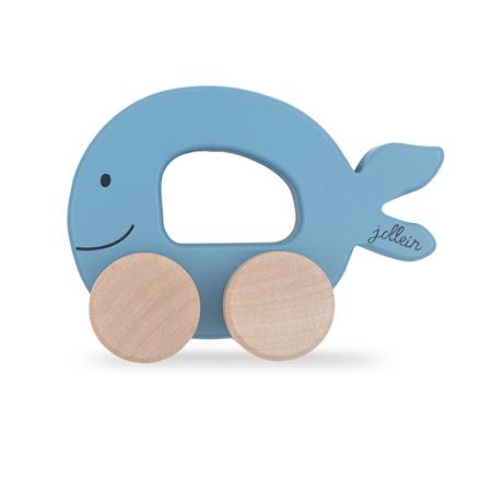 Immagine di Jollein® Giocattolo in legno Car Fish Blue