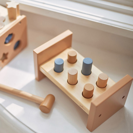 Immagine di Jollein® Giocattolo di legno Martello Blue