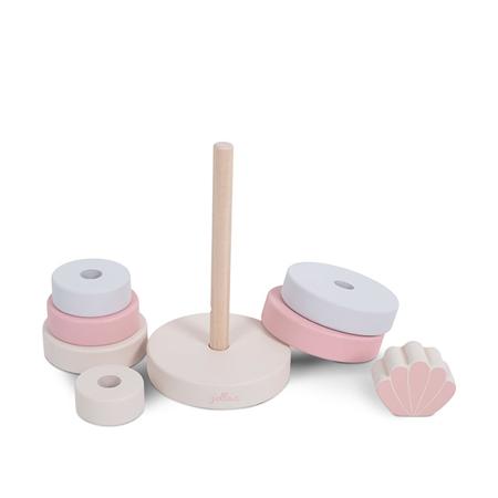 Jollein® Torre pieghevole in legno Shell Pink