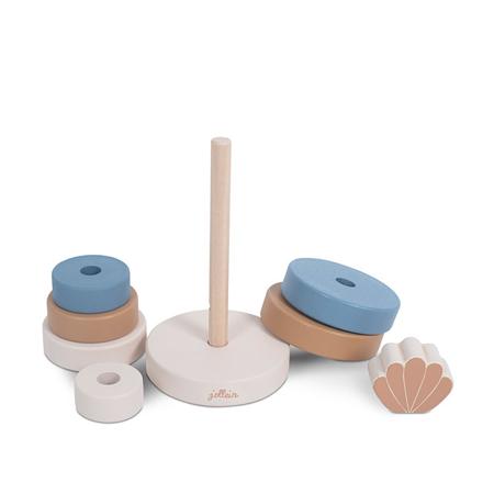 Jollein® Torre pieghevole in legno Shell Blue