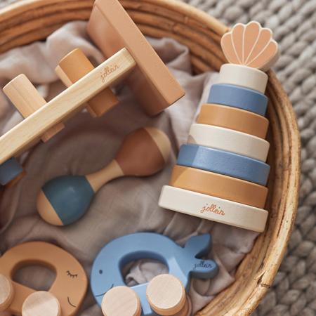 Immagine di Jollein® Torre pieghevole in legno Shell Blue