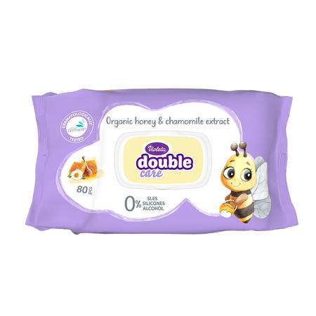Violeta® Salviettine umidificate per bambini con estratti di camomilla e crema 80/1