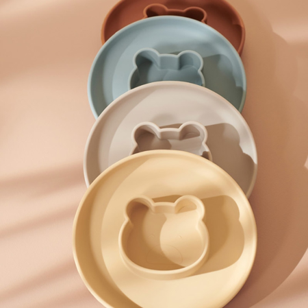 Immagine di Liewood® Set di piatti in silicone Gordon Cat dark rose/mustard Mix