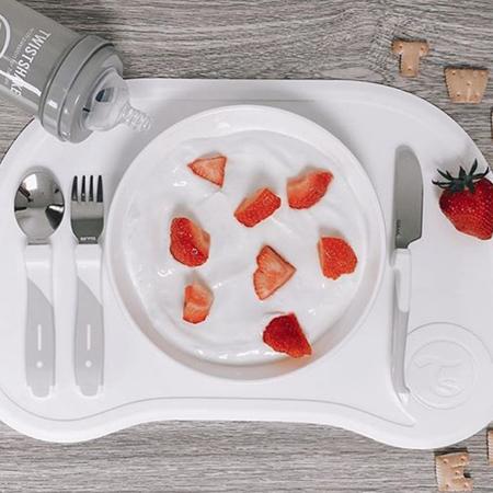 Twistshake® Tovaglia con piatto Click Mini White