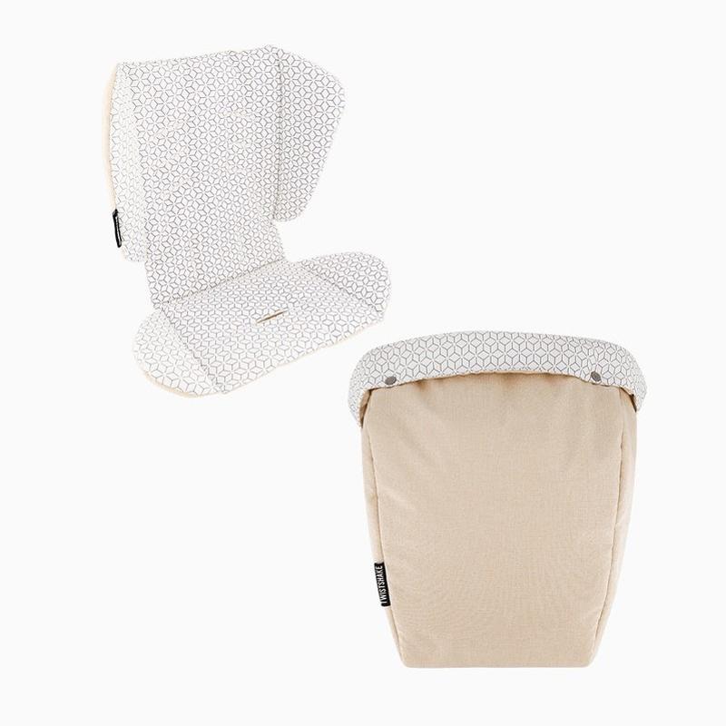 Immagine di Twistshake® Materassino per passeggino + sacca invernale per i piedi  Beige