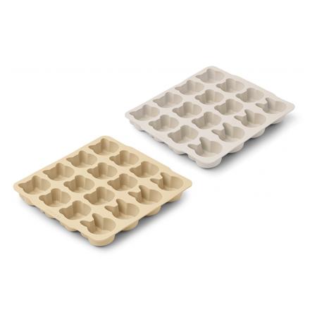 Immagine di Liewood® Modelli per il ghiaccio in silicone Sonny Wheat Yellow Sandy Mix 2 pezzi