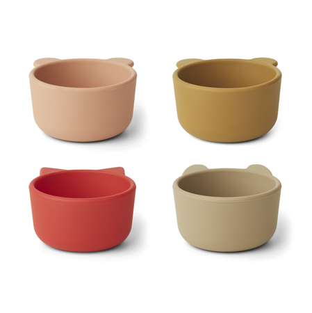 Immagine di Liewood® Scodelle in silicone Malene Apple Red/Tuscany Rose Multi Mix