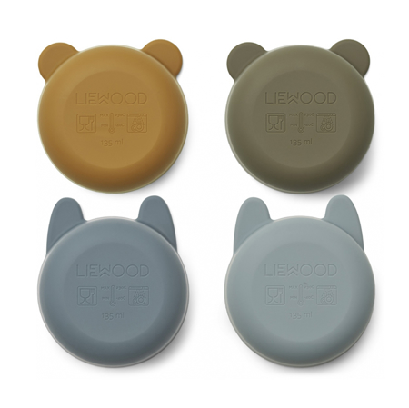 Immagine di Liewood® Scodelle in silicone Malene Golden Caramel/Blue Multi Mix